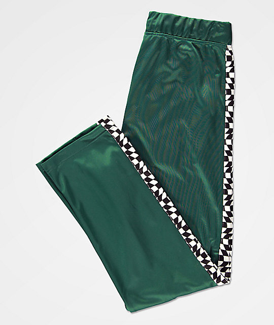 Empyre Way Green & Checkerboard Track Pants