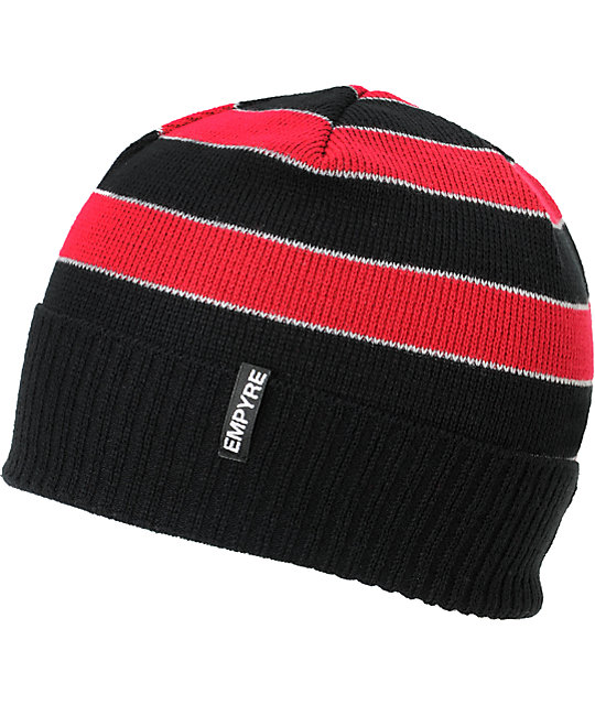 Empyre Wilmer Black & Red Beanie