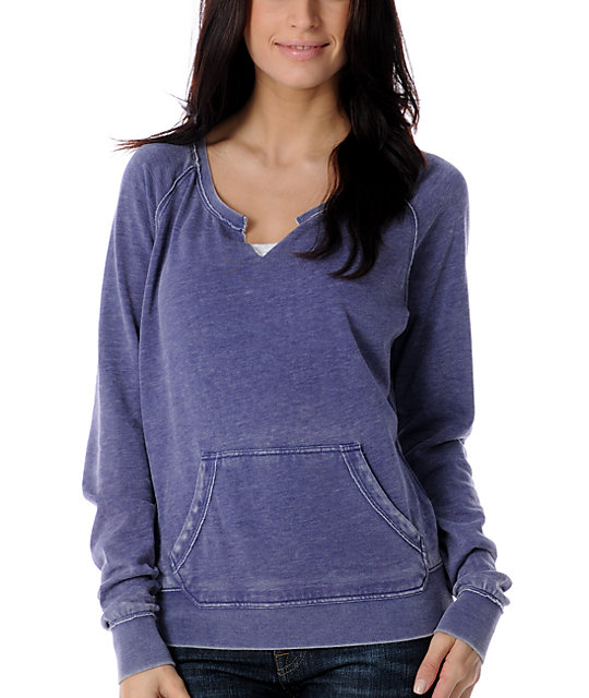 Empyre Xeric Navy Burnout Pullover Sweatshirt
