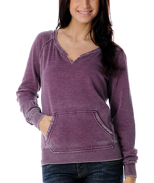 Empyre Xeric Purple Burnout Pullover Sweatshirt