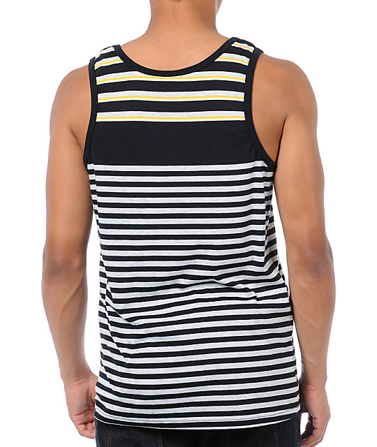 Empyre Yellow Jacket Black Striped Tank Top