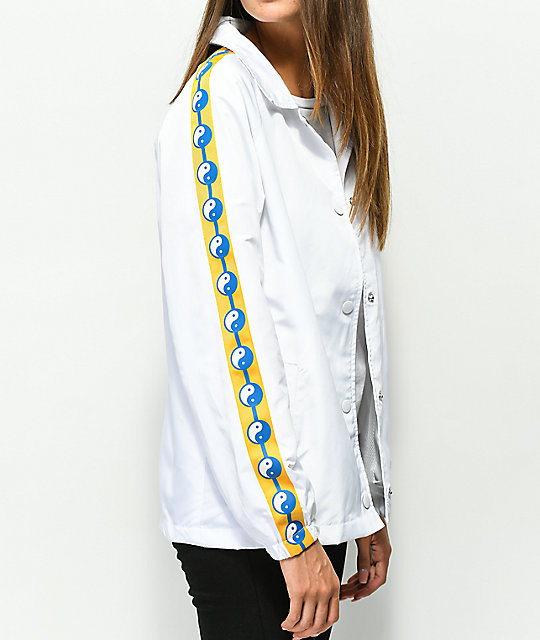 Empyre Yin Yang Taping White Coaches Jacket