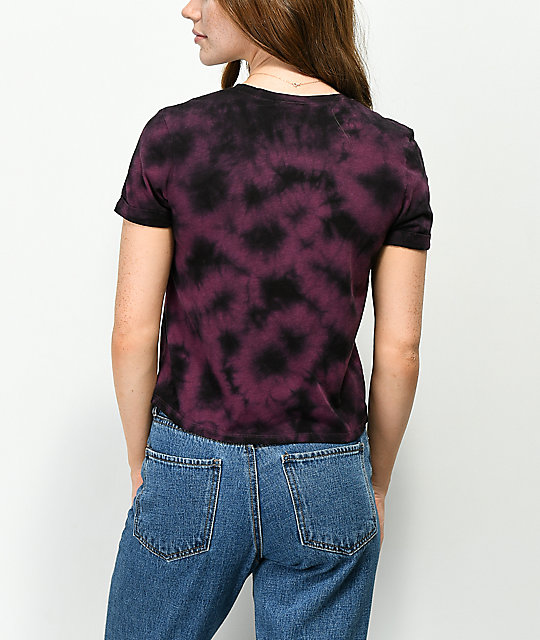 Empyre Yohanna Rose Purple Tie Dye T-Shirt