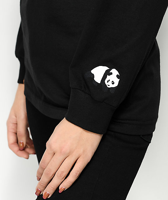 Enjoi Airbrush Panda Black Long Sleeve T-Shirt