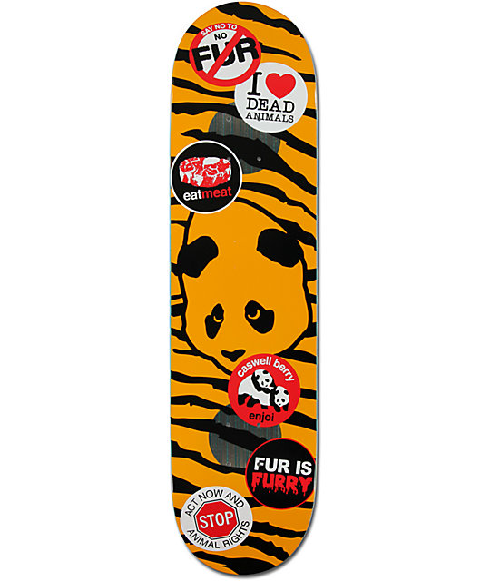 "Enjoi Berry Animal Rights 8.0""  Impact Plus Skateboard Deck"