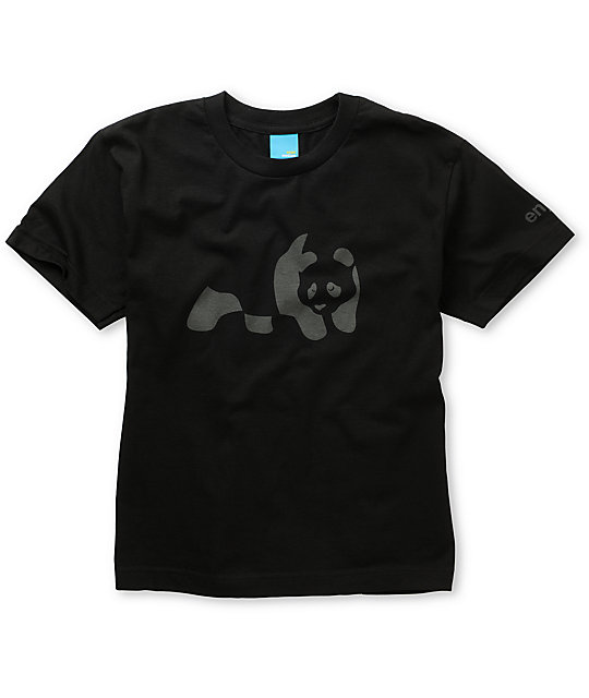Enjoi Boys Black & Charcoal Panda T-Shirt
