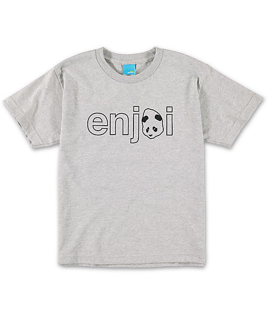 Enjoi Boys Headvetica Heather Grey T-Shirt