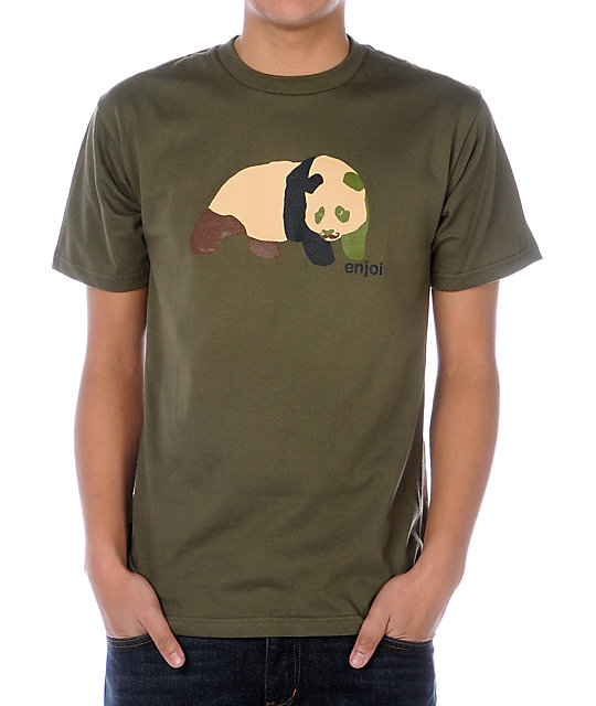 Enjoi Camostache Green T-Shirt