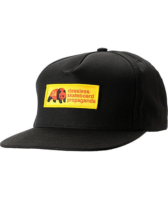 Enjoi Dictator-Tots Black Snapback Hat  a49bcac873d