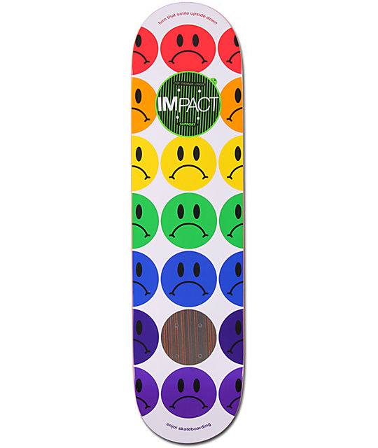 "Enjoi Frowny Faces 7.75""  Impact Skateboard Deck"