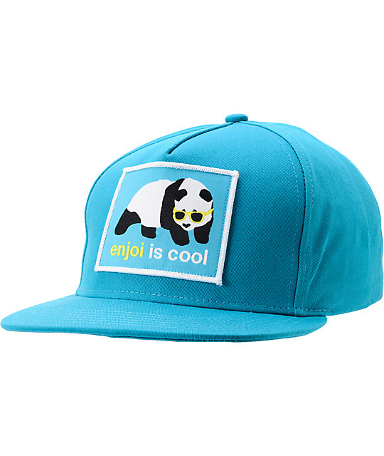 Enjoi Is Cool Turquoise Snapback Hat  61eb0290e94
