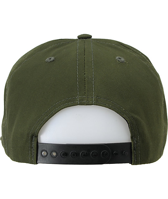 Enjoi Not Hump Army Green Snapback Hat