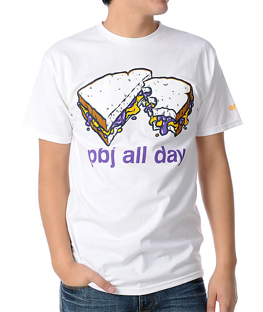 Enjoi PB&J All Day White T-Shirt