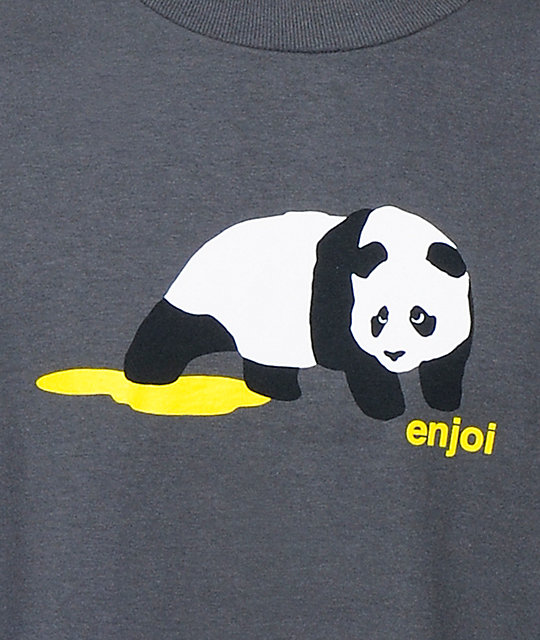 Enjoi Panda Pee Charcoal T-Shirt