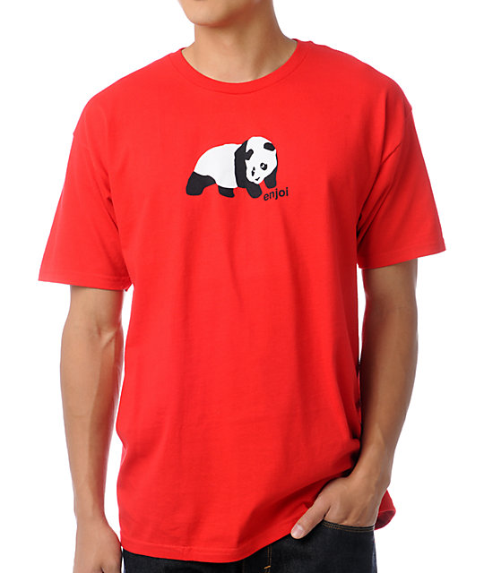 Enjoi Panda Red T-Shirt