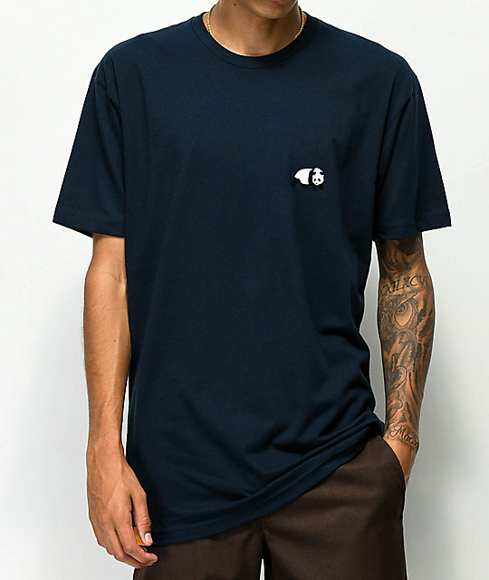 Enjoi Small Panda Navy T-Shirt