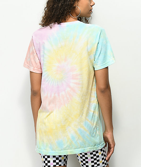 Enjoi Small Panda Rainbow Tie Dye T-Shirt