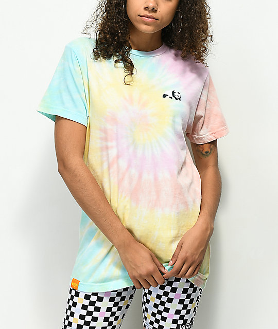 Enjoi Small Panda camiseta tie dye multicolor
