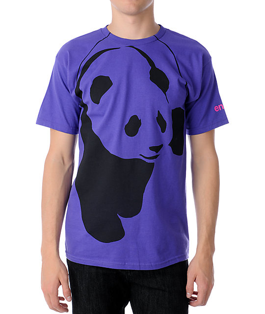 Enjoi Streetwear Panda Purple T-Shirt