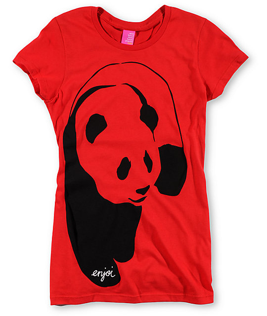 Enjoi Streetwear Panda Red T-Shirt