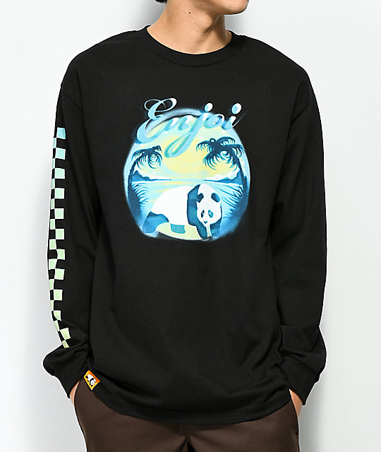 Enjoi Tonal Airbrush Black Long Sleeve T-Shirt