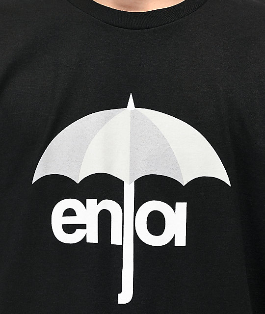 Enjoi Umbrella Logo camiseta negra