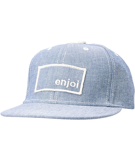 Enjoi Wear Its Blue Snapback Hat