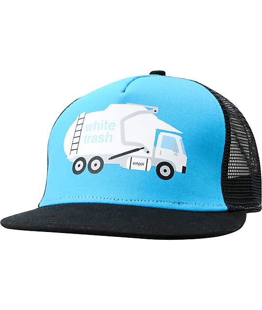 Enjoi White Trash Turquoise Snapback Trucker Hat