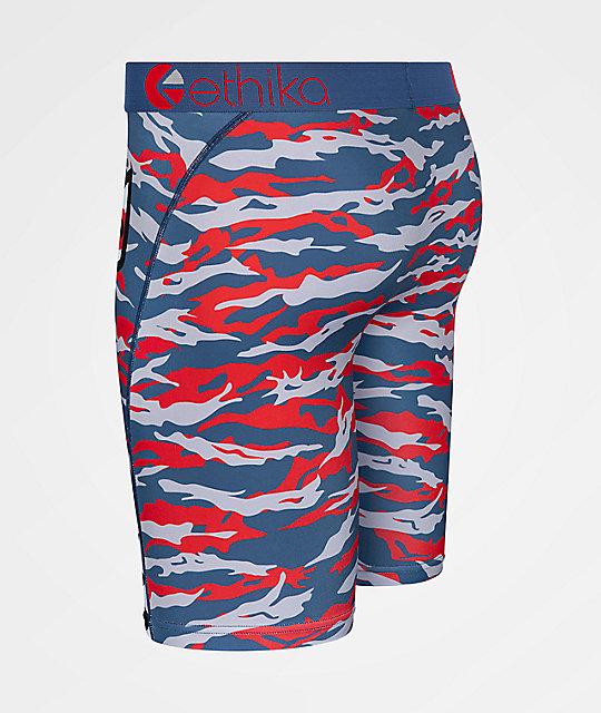 Ethika Boys Bomber Army Red & Blue Boxer Briefs