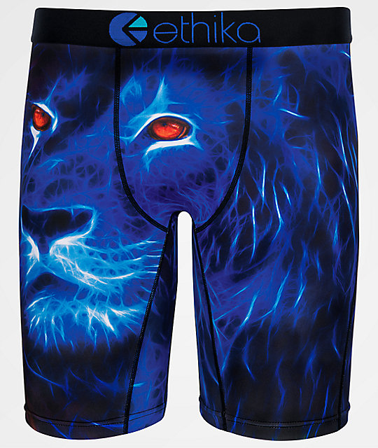 Ethika Boys Mufasa Blue Boxer Briefs