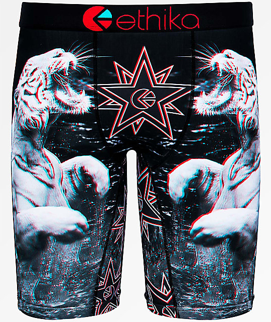 Ethika Boys White Russians 3D Boxer Briefs