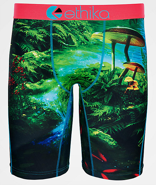 Ethika Fun Guy Green Boxer Briefs