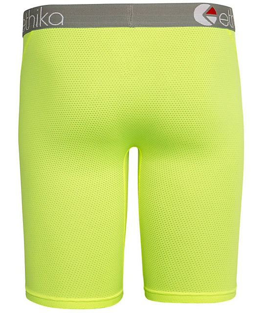 Ethika MicroMesh Performance Neon Yellow Boxer Briefs
