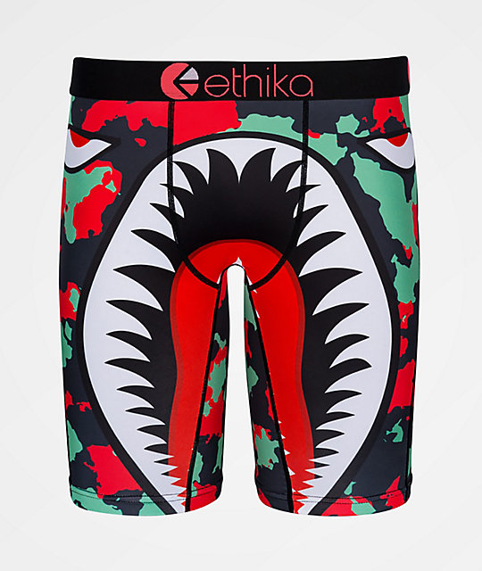 Ethika War Plane Green Boxer Briefs