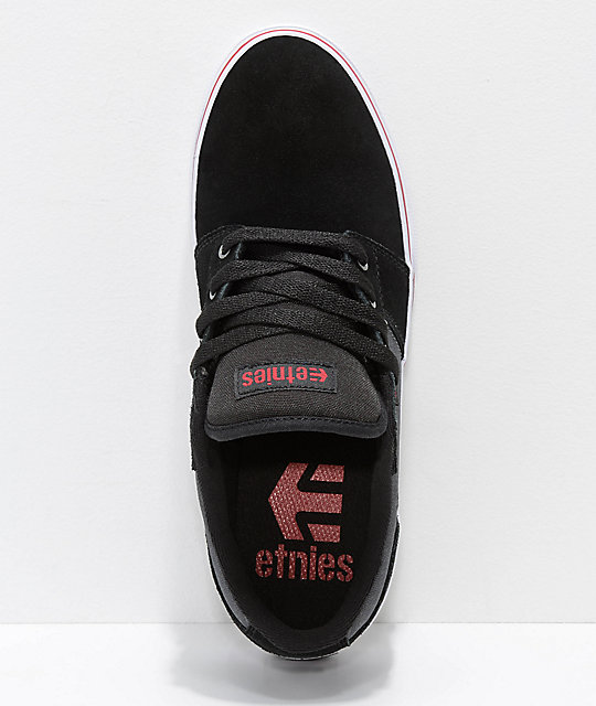 Etnies Barge LS Black, Dark Grey & White Skate Shoes