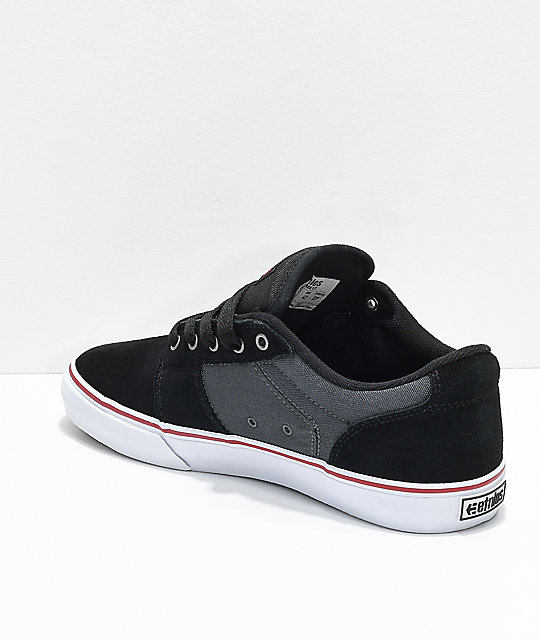 EtniesBARGE - Skate shoes - black/dark grey HnwEG2YI