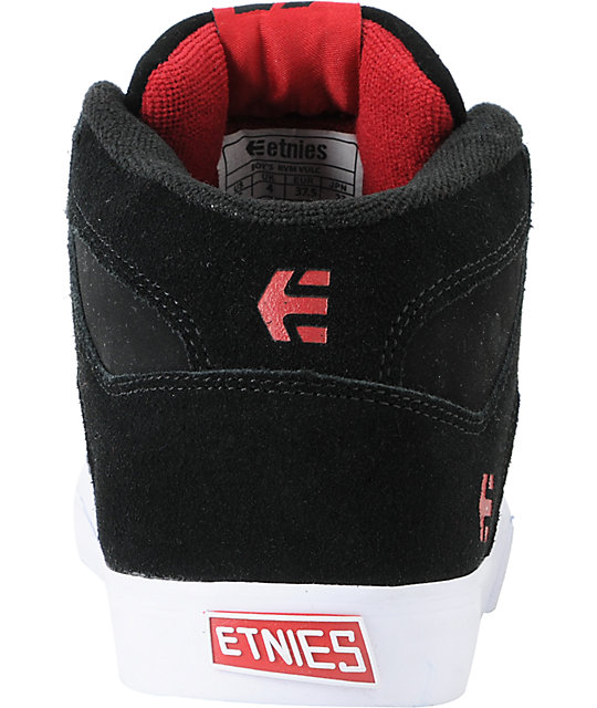 Etnies Boys RVM Vulc Black & Red Skate Shoes