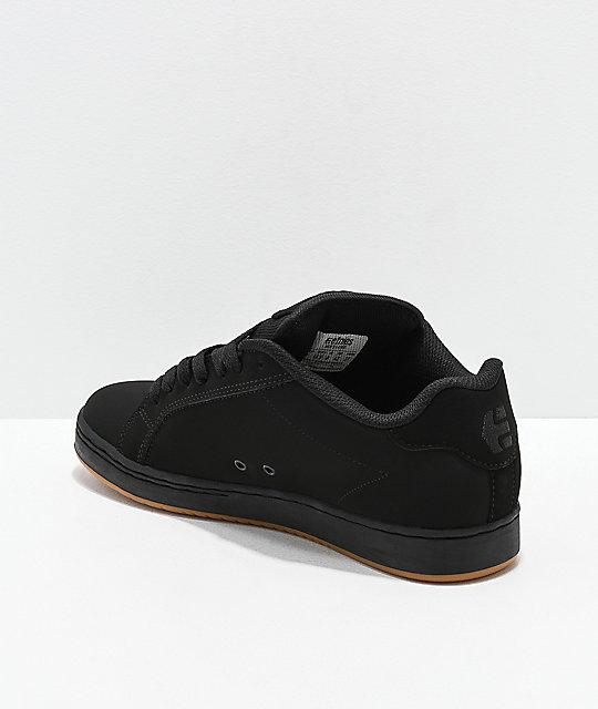 Etnies Fader Black, Olive & Gum Skate Shoes | Zumiez