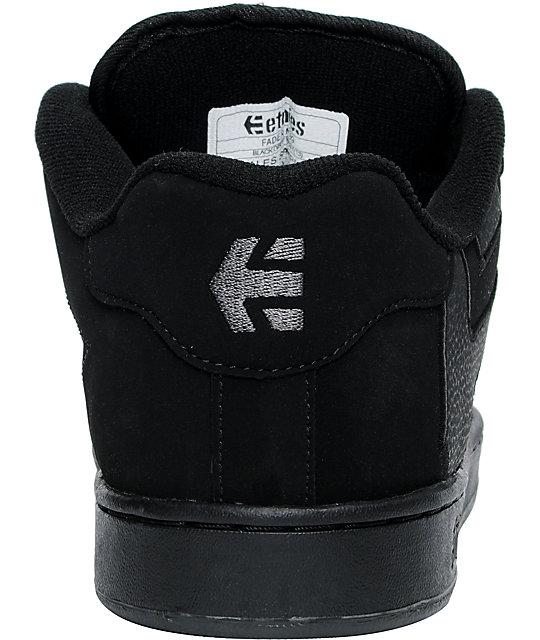 ETNIES Skateboard Shoes FADER BLACK DIRTY WASH