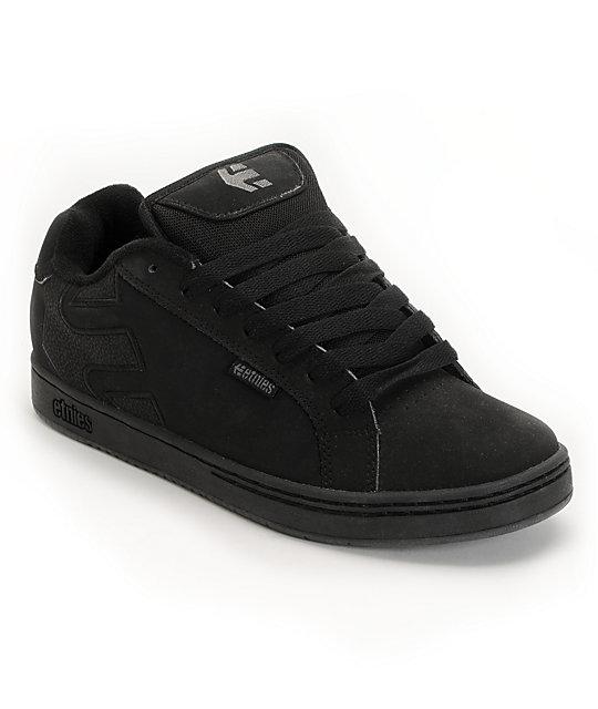 Etnies Fader Black & Dirty Wash Skate Shoes ...