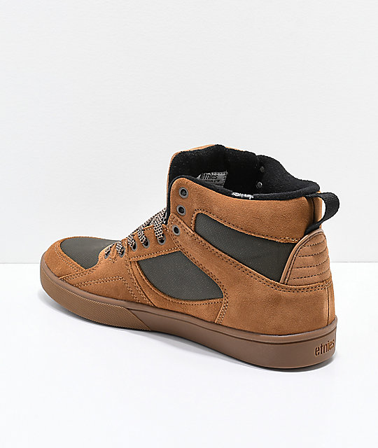 Etnies Harrison HTW Brown, Olive & Gum Shoes