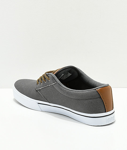 Etnies Jameson 2 Eco Grey & Brown Skate Shoes