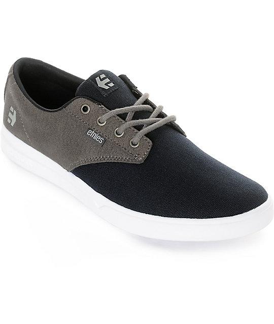 Etnies Jameson SC Grey & Navy Canvas Shoes ...