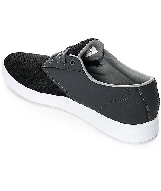 Etnies Jameson SC zapatos en blanco, negro y color carbón