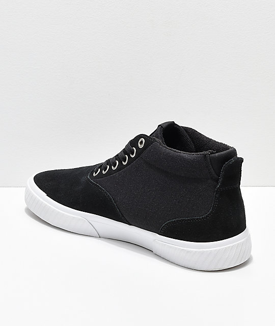 Etnies Jameson Vulc MT Black & White Skate Shoes