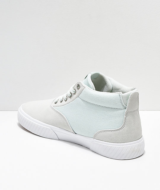 Etnies Jameson Vulc MT Mint & White Skate Shoes