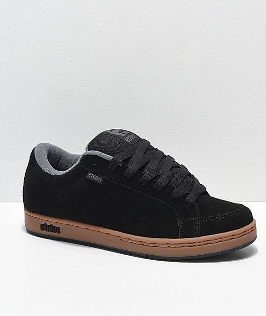 Etnies Kingpin Black, Gum & Dark Grey Skate Shoes