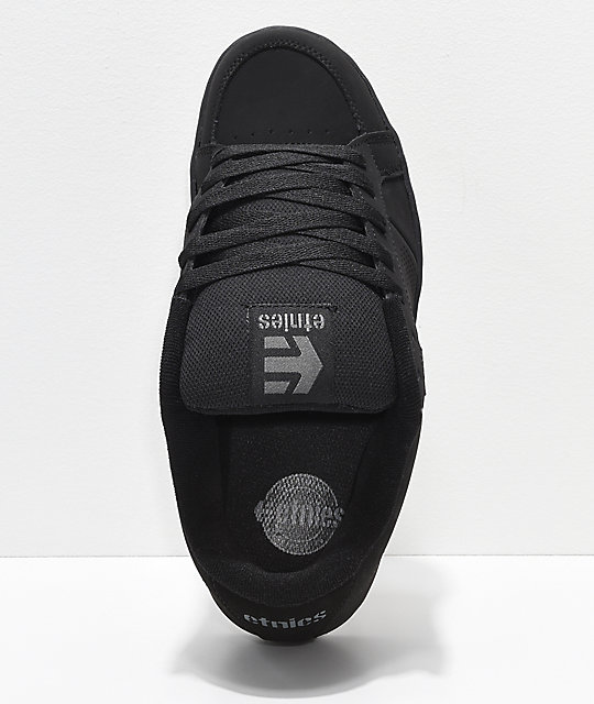 Etnies Kingpin Black & Black Skate Shoes