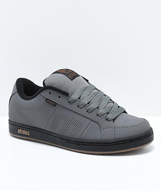 elegant in style variety design exclusive range Etnies Kingpin Grey, Black & Gold Skate Shoes
