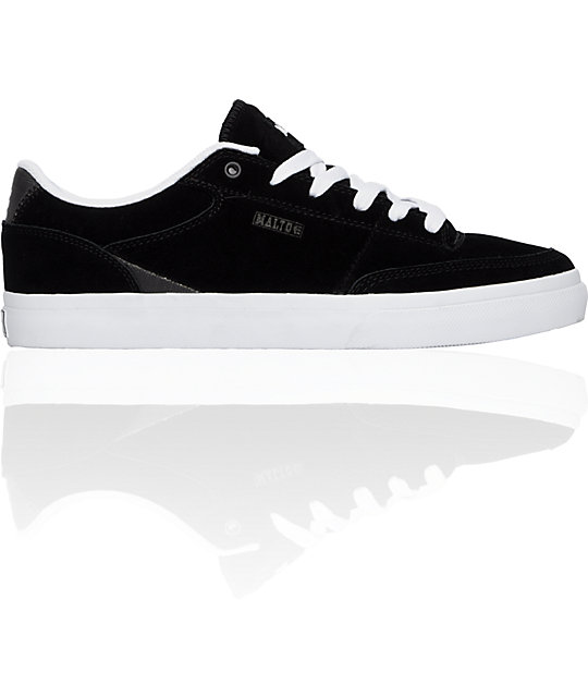Etnies Malto Black & Suede Waxed Canvas Shoes
